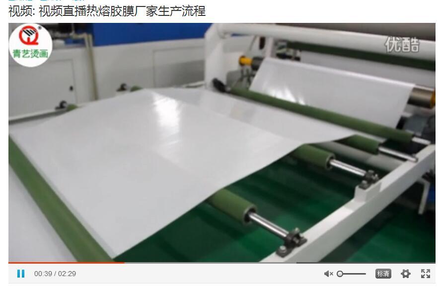 青艺视频直播热熔胶膜生产流程